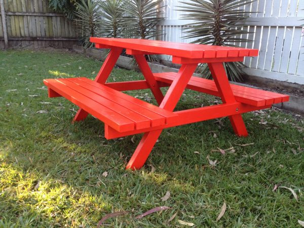 """MAXI"" COLOURED TIMBER PICNIC TABLE"