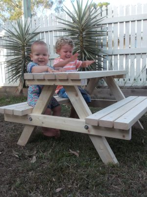 """MINI"" NATURAL PICNIC TABLE"