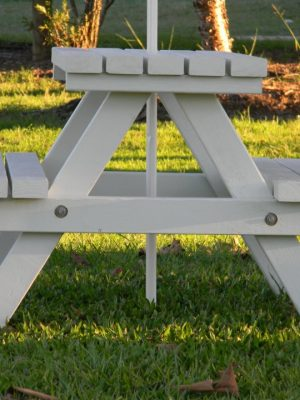 """MINI"" WHITE TIMBER PICNIC TABLE"