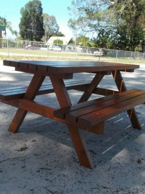 """MINI PLUS"" STAINED TIMBER PICNIC TABLE"